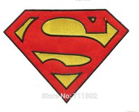big lots bikes - 20 x cm Big size Superman hero exquisite iron on patches movie embroidered patch bike cartoon badge MC