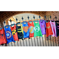 Wholesale 15color double layer kids cosplay Superhero Capes Children capes Halloween costume christmas gift direct sale Multiple choices