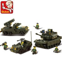 best battle tanks - Sluban M38 B6800 Land Battle Forces Army Troops Military Enlighten War Tanks Building Bricks Compatible with Legominifigure Best Gift