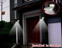 Wholesale Solar Powered Lamp Energy saving Outdoor LED Wall Garden Yard Street Ray and Sound sensor activated light
