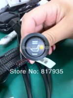 Wholesale Round switch car styling hi off lo temperature carbon fibre pads auto seat heaters for all type cars use in cold seasons M48930