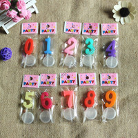 Wholesale Color candle independent packing candle birthday candles Numbers Bake cake shop special candles