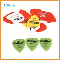 Accesorios Profesionales de Guitarra Alice 1.20mm Nylon Estándar Guitarra Acústica Eléctrica Estándar Elige Plectres 200Pcs / lot