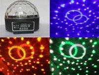 Mini activado por voz Disco DJ Escenario de iluminación LED Escenario de iluminación RGB Crystal bola mágica 6CH DMX 512 luz 20W KTV Partido