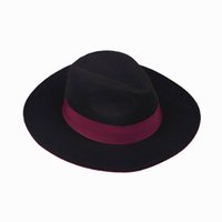 Wholesale Stylish Wide Brim Hats Michael Jackson Street Wine Red Caps Unisex Vintage Derby Travel DJ Dance Hats ENQ6