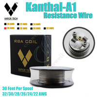 tech - Authentic VAPOR TECH KanthalA1 Resistance Heating Wire Feet awg Gauge Vapor mod RDA atomizer RBA vape DIY pre coil DHL