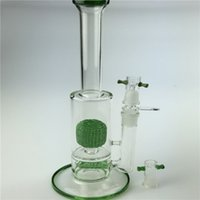 Pineapples - 2015 New Glass Water Pipe With Green Pineapple Shape Percolator Water Pipe Bong Oil Rig Hookah