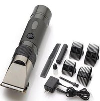 battery hair clipper - Hot Sale professional hair clipper lithium battery titanium ceramic blade Rechargeable Hair Trimmer hair cutting machine