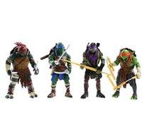 Wholesale 2014 NEW HOT pieces set cm Anime Cartoon TMNT Teenage Mutant Ninja Turtles PVC Action Figure Toys Dolls