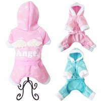 Wholesale MOQ Cute Angel Wing Dog Spring Winter Autumn Jumpsuit Soft Puppy Warm Clothing Pet