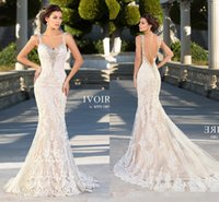 beach ribbon - Kitty Chen New Mermaid Wedding Dresses Lace Bridal Gowns Sexy Vintage Cheap Crystals Beading Backless Champagne Dress Long Chapel Train
