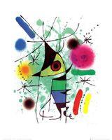 оптовых жоана миро-Пользовательские Joan-Миро-The-пение-рыба Art Nice Home Decor Retro Poster (50x76cm) стикер стены Бесплатная доставка