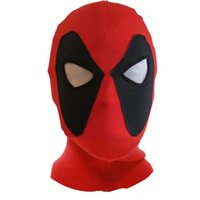 Wholesale 10PCS LJJN01Maxhoc Deadpool Mask red new superhero Costume Hood polyeter cosplay for Adults and Kids in halloween