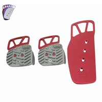 Wholesale Racing Aluminum Pedal Pad Cover Kit Manual Transmission MT