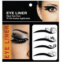 application eye liner - New fashionable maquillage black eye liner stickers decorations eye art easiest application temporary Waterproof eyeliner