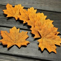 fall decorations - Hot Sale Artifical Maple Leaves Fake Autumn Fall Leaf Wedding Party Decoration Craft Art Home Decor