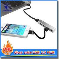 aluminum usb hub - Rectangle Ports Aluminum USB High Speed Hub For PC Laptop USB Port Hub Splitter Machine