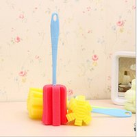 Wholesale 2015 New design Top Quality Simple Sponge Durable Cleaning Brush for Bottle and Cup useful for kitchen