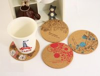 cork coasters - Freeshipping New Cute flower cork wooden Coffee Cup Coaster Tea Mat amp pads fashion style