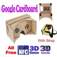 Wholesale 2014 New DIY Google Cardboard Valencia Quality d Vr Virtual Reality D Viewing Glasses with Head Strap for quot quot quot Screen V832 V841