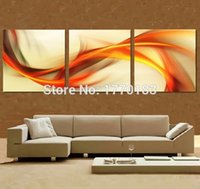 art space hands - modern d light art oil painting hand painted red yellow abstract space lines canvas pictures artwork