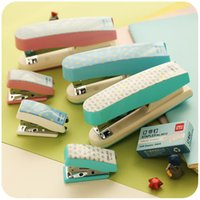 Wholesale The student thickened Mini stapler suit office supplies staple stapler with large trumpet nails