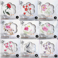 Wholesale Chinese style embroidered silk handkerchief christmas wedding birthday gift Charm Silk Facecloth