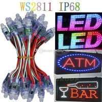 led christmas net lights - AAA mm WS2811 led pixel module IP68 waterproof DC5V full color RGB a string christmas LED light Addressable new ws2801