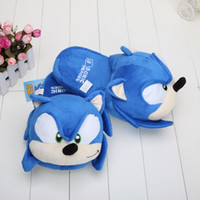 plush slippers - Sonic slippers blue Plush Doll inch Adult Plush Sonic Slipper
