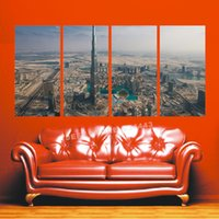 More Panel Digital printing Fashion Living Room decorating Modern Home Canvas Print Home decorating 4 Panels Building the world's top business Home decorating Picture Home Deco