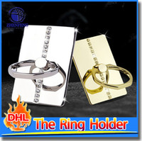 Wholesale Ring Phone Holder For Mobile Phones Tablets Luxury Finger Grip With Free Hook For Phone Stand