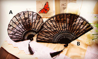 Wholesale Creative wedding party decoration lace fan lady bridal cotton fan Photography prop folding fan