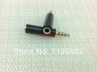Wholesale Phone Earphone Adapter mm male to mm female adapter to Male to Female for iphone s s fedex