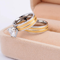 Cheap Band Rings gold sand diamond rings Best Celtic Lovers lovers couple rings
