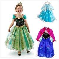 Cheap 2015 Frozen baby dress Elsa Anna costume princess dress sequined cartoon costume Free shipping girls dresses.