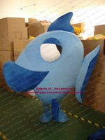 Wholesale Fancy Blue Deep Sea Fish Dory Mascot Costume Flounder Pomfret Platax Teira Turbot With Big Eyes Mascotte Adult No Free Ship