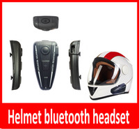 Wholesale hot helmet bluetooth headset M BT Intercom Headset Helmet BT Interphone For Motorbike Motorcycle hand free Headset Speaker