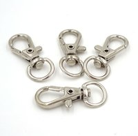 Wholesale Pack Silver Metal Swivel Lobster Clasp Clips Key Hook Keychain Split Key Ring Findings Clasps For Keychains Making mm