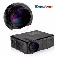 av atv - Excelvan LED LCD Projector Lumens HD Projector for Home Theater Laptop AV VGA HDMI USB ATV Input Support P Projector