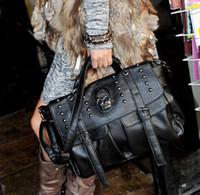best designer luggage - Luggage Bags Handbags Best Selling Shoulder Bag Lady Fashion Bag Designer Punk Skull Rivet Bag All Match Women s Handbag Black