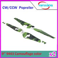 Wholesale 2pcs Pairs DJI Phantom CW CCW quot Self Tightening Camouflage Color Propeller for DJI Phantom Vision FC40 Qudcopter ZY DJI