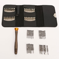 Wholesale 25Pcs set Portable Cell Phone Precision Screwdriver Tools Kit Laptop Watch Glasses Screw Batch Combination Repair Tool