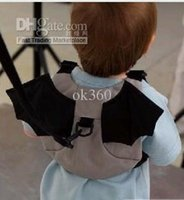 Wholesale Baby carrier Kid Toddler Safety Harness Strap Bat Bag Anti lost Walking Wings backpack new H1792