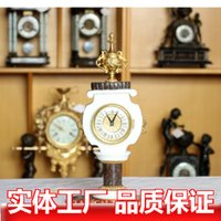 antique marble clocks - European classical antique mechanical clock bell bronze bell Marble