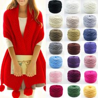 Wholesale New Arrivals Clothing Fabric Knitting Wool Yarn Ring Spun craft Smooth Cotton Natural Double Ball g CX49