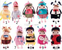 Wholesale Lovely Baby Angela Doll backpack Children School bags Metoo bags
