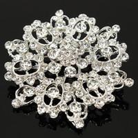 Wholesale Sparkling rhinestone brooch pin brooch cm Bridal Wedding Decoration Women order lt no track
