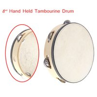 holding - Toy Musical Instrument Tambourine quot Hand Held Tambourine Drum Bell Birch Metal Jingles Musical Toy for KTV Party Kid I594
