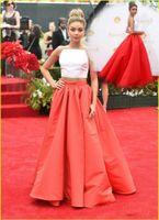 Cheap Celebrity Runway Red Carpet Evening Dresses Cheap 2016 New Vestidos De Novia Two Piece Pro Dresses Ball Gowns Satin Court Train Formal