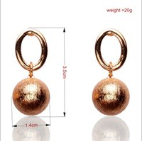 Wholesale New Arrival Retro Vintage Round Ball Shape K Gold Plated Earrings For Women Fashion Jewelry